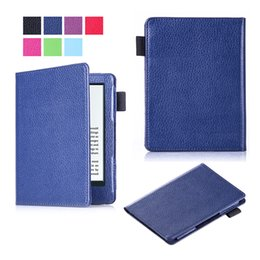 Wholesale Pen Readers - Good Litchi PU Leather Cover for New Kindle 2016 Protective Magnetic Smart Sleep Case For Kindle 558 Reader + Pen