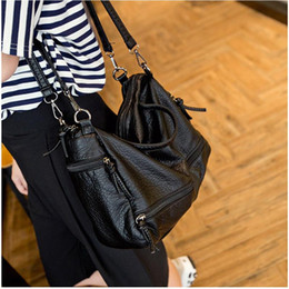Wholesale Large Crossbody Bags - Fashion Waterproof Pu Leather Crossbody Bag Vintage Women Messenger Bag Motorcycle Shoulder Bag Large Women Handbag
