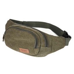 Wholesale Fanny Pack Shoulder Bag - Wholesale- ASDS Fashion Canvas Waist Belt Bag Vintage Shoulder Sling Fanny Pack Hip Wallet