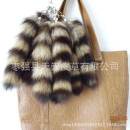 Wholesale Record Movies - raccoon tail Keychain pendan tail material 28-30 cm long tail
