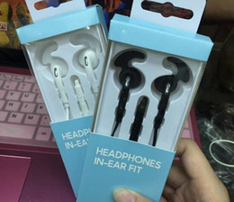 Wholesale Earphones Earbuds Tips - With retail box S7 3.5mm Sports Ear Hook Earphone With Mic Headphone Headset Earbuds For Samsung S7 edge with hybrid ear tips
