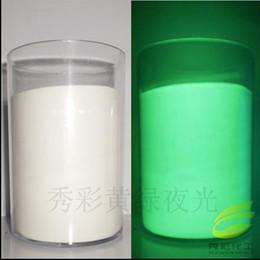 Peinture vert clair en Ligne-Vente en gros- Couleur blanche poudre de phosphore en poudre lumineuse 100g / sac, matériel de décoration, Glow Powder Paint Glow Green light