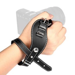 Wholesale Hand Grip Camera - New Leather Wrist Hand Strap Grip Belt for Canon Nikon Sony Mirrorless Camera