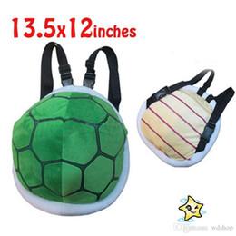 Wholesale Mario Shell Backpack - Super Mairo Plush Backpack Cartoon Mario Cubo Turtle Shell Infantil Backpack Mini Anime Plush Backpack Baby Mochila For Xmas Birthday Gift