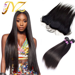 Wholesale Malaysian Wavy Virgin Hair 4pcs - Straight Human Hair Bundles With Lace Frontal Closure Wet Wavy Bleached Knots Ear To Ear Full Lace Frontals 4pcs lot