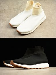 Wholesale Aw White - 2017 HOT Alex Originals Wang AW Run Clean Black All White Solid Grey Core Black Summer Boost For Men&Women X Sock Running Shoes Size 36 - 45