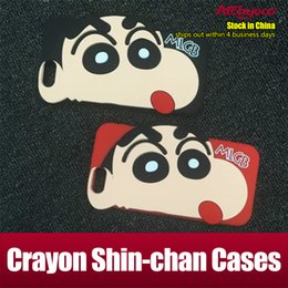 Wholesale Crayons Iphone Case - For Iphone 7 Case Silicone Case Crayon Shin-chan Case for iphone 7 plus 6s plus Samsung Note 7 S6 S7 Opp Package
