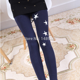 Wholesale Cheap Printed Leggings - Wholesale- Women Cotton Fitness Leggings Winter Legging Fashion Star Slim Knitted Leggings Cheap Wholesale From China
