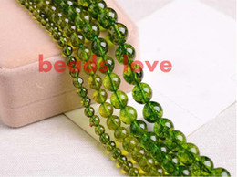 Wholesale Natural Lapis Beads - Natural Stone Green Peridot Round Loose Spacer Beads 6 8 10mm Pick Size For Jewelry Making Diy Bracelet Free Shipping-F00276 jewelry making