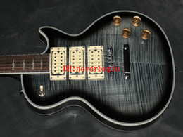 Wholesale Mahogany Finish - Ace Frehley signature guitar grey flame maple gloss finish cream 3 pickups electric guitar