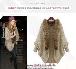 Wholesale Khaki Ruffle Jacket - 2016 New Autumn Winter Women's Sweaters Fur V Neck Female's Jackets Long Sleeve Casual Knits HS011