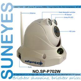Wholesale Suneyes Wifi Wireless - Suneyes SP-P702W Wifi Wireless Dome IP Camera ONVIF HD 720P 1.0MP with TF Micro SD Card Slot Two Way Audio Project Quality