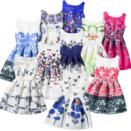 Wholesale Picture U - PrettyBaby 2016 new arrival summer kids girls dress the floral design sleeveless many pictures designs for U to choose 100pcs Lot