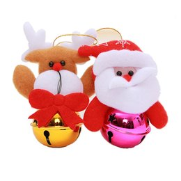 Wholesale Snowmen Bells - Christmas Ornaments Bells Xmas Tree Small Bell Decoration Father Christmas Snowman Christmas trees Jingle Product Code : 95 -1010