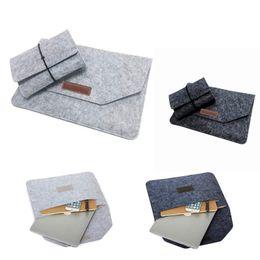 Wholesale Felt Laptop Cover - Fashion Wool Felt Bag Laptop Envelope Sleeve Cover Case Protective Pouch For Macbook AIR RETINA 11 12 13 15 inch Multifunction Bag