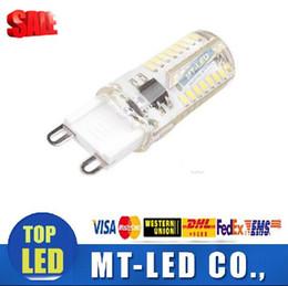 Wholesale Led Lamp G4 6w - cheaper led G9 led Support dimmer 6W LED Lamp led light bulbs 110v 220V Cold white Warm white 64led High quality for crystal chandeliers