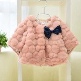 Wholesale Christmas Pink Cardigan - Hug Me Girls Fur Coat Waistcoat Outwear Christmas Kids 2016 Autumn Fashion Geometric Patterns Knitting Cardigan Warm Girls Coat AA-407