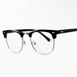b2cf42ac32 Wholesale- Decorative UV Eyewear Frames Brand Design Eyeglasses eye glasses  frames for Men Male Women Computer Plain spectacle frame
