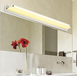 2019 espejos de baño largos Espejo de baño LED Luz Lámpara antiniebla delantera Lámpara de pared de estilo mini acero inoxidable Luces de lampara de pared up down down