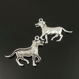 Canada 10pcs Antiqued Silver Tone Chien Alliage Animal Charme pendentif 52 * 35 * 3mm fabrication de bijoux cheap dog charms Offre