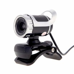 Wholesale Pc Web Camera Microphone - 2016 New USB 2.0 50 Megapixel HD Webcam Camera Web Cam Digital Video Webcamera with Microphone MIC for Computer PC Laptop GSCP2201