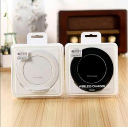 Wholesale Factory Outlet Fasts - original quality Fast Wireless Charger QI Wireless Charging Pad Stand Holder for Samsung Galaxy S7 Edge s8 Plus Note 5 7 factory outlet