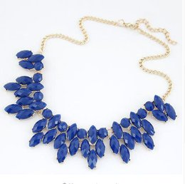 Wholesale Garnet Statement Necklace - 2016 Summer Style Collares Mujer Statement Necklaces & Pendants Imitated Gemstone Jewelry Collier Femme for Women Accessoris FREE SHIPPING
