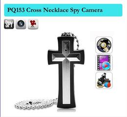 Wholesale Camera Cross - 480P 8GB Cross necklace camera,cross pendant pocket spy camera ,pendant hidden camera Camcorder Mini pinhole DV DVR Cameras PQ153