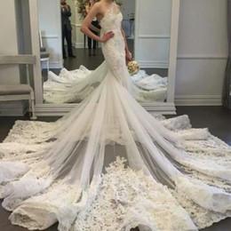 Vestidos de boda de monarca online-2018 exquisito un hombro sirena de lujo vestido de boda vestidos de novia apliques Monarch tren fotos reales vestidos de novia de hadas 2017 QW903