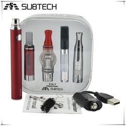 Wholesale Electonic Cigarettes - Subtech 4 in 1 evod battery Electonic cigarette Multi vape Vaporizer Starter Kit Vape Pen mt3 dry herb tank factory sell MOQ: 30pcs