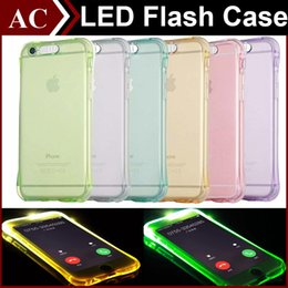Wholesale Calling Sense Led - Luminous Called Sense Case Remind Lncoming LED Flash Up Light Clear Airbag TPU Soft Back Cover For iPhone 5S SE 6 6S Plus Galaxy S6 S7 Edge