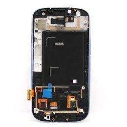 Wholesale S3 Lcd Assembly - With mid-frame for Samsung Galaxy S3 i9305 Original LCD Display Touch Screen Digitizer Glass Full Assembly Panel Tactil Ecran