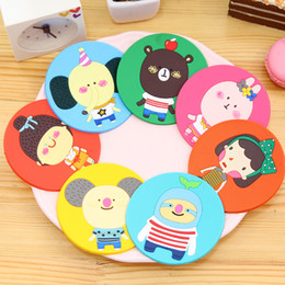 Wholesale Wholesale Romania - DHL Shipping Free Cute Romania Animals Silicone Insulation Anti Slip Coasters Cup Mat Mug Placemat Base Kitchen Accessories Home Decor