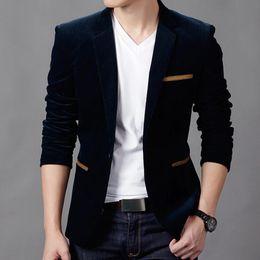 Wholesale Terno Plus Size Masculino - Mens Fashion Brand Blazer British's Style casual Slim Fit suit jacket male Blazers men coat Terno Masculino Plus Size