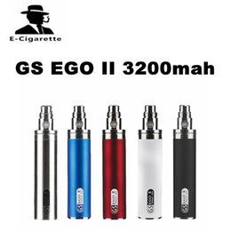 Wholesale Ems Ego - GS EGO II 3200mah Battery D19.5*L103mm with eGo thread for electronic cigarettes Five Colors DHL EMS