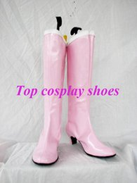 Wholesale Tailoring Accessories - Wholesale-Sailor Moon Sailor Chibi Moon Usagi Small Lady Serenity Cosplay Shoes Pink Boots Tailor Made #GAI09 pink high heel