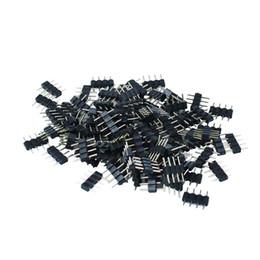 Conector de agulha on-line-1000 pçs / lote 4pin conector RGB, agulha de 4 pinos, tipo masculino duplo 4pin, pequena parte para LED RGB 3528 e 5050 tira frete grátis