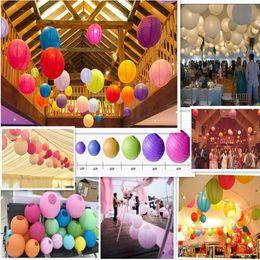 "Wholesale White Paper Lanterns Free Shipping - Free shipping 100pcs 40cm(16"") Chinese round paper lantern wedding lantern festival decoration"
