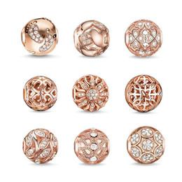 Joyas de oro rosa al por mayor-Moda para mujer Bricolaje Cristal austriaco blanco Animal Charm Gran agujero Grano suelto para la pulsera europea B05 desde fabricantes