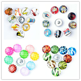 Wholesale Musical Charms Bracelets - Musical Instrument Camo Super man Design Metal Charm 18mm Glass snap button Jewelry Faceted glass Snap Fit snap Bracelet snaps jewelry