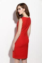 Wholesale Boutique Women S Dresses - High-end Boutique Bodycon Slim Women Fashion Sleeveless Dress Elegant Formal Solid A-Line Dresses