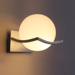 Wholesale Novelty Wall Lamps - New arrival unique and novelty led wall lamps glass ball wall lights Wall Luminaire Led Lights For Wall Kitchen Bedroom E27 AC90V-260V