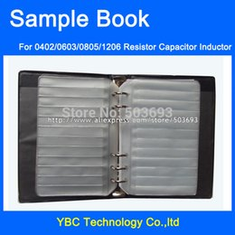 Wholesale Electronic Components Sample Book - Wholesale- Free shipping Resistor Capacitor Inductor Blank SMD Components Empty Sample Book For 0402 0603 0805 1206 Electronic Component