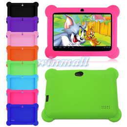 "Wholesale China Kids Tablets - Cute Kids Shockproof Soft Silicone Rubber Gel Case Cover For Q88 7"" Inch Android Tablet PC"