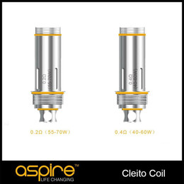 atomizers for cleito Promo Codes - Original Aspire Cleito Replacemet Dual Clapton Coil 0.2ohm 0.4ohm 0.27ohm SS316L Temperature Control Atomizer For Cleito Serious TPD Packing