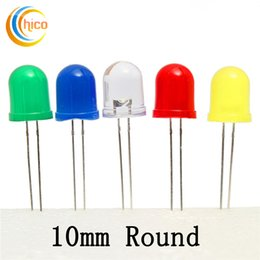 Wholesale Assorted Led Lights - 10mm led diode 500Pcs bag 20mA White Blue Red Yellow Green Round Light Emitting LED Diode Assorted Kit 5 Colors Hot Sale