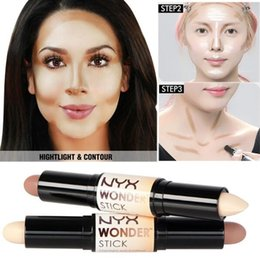 Wholesale Hid Wholesalers - Double-ended Contour NYX Wonder Stick Foundation Hide Blemish Dark Circle Cream Concealer Base Liquid Contouring Camouflage Cosmetics Brand