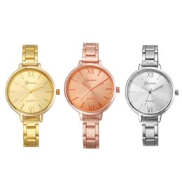 Geneva reloj bandas online-Relojes Mujer 2016 Fashion Geneva Watch Mujer Ancho Estrecho Banda Inoxidable Wist Relojes Relogio Reminino Montre Femme
