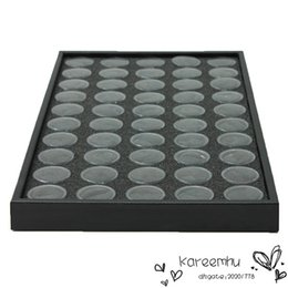 Wholesale Manicure Storage Cases - 50 Pots Nail Art Manicure Empty Transparent Box Glitter Dust Powder Jewelry Display Boxes Cases Decorations Storage Plate Tool