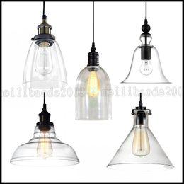 Wholesale Vintage Industrial Lights - MODERN Vintage Industrial RETRO GLASS CEILING LAMPSHADE PENDANT LIGHT Chandelier LLEA081